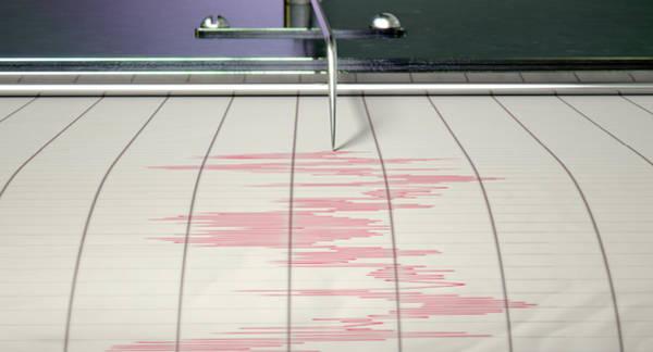 Wall Art - Digital Art - Seismograph Earthquake Activity by Allan Swart