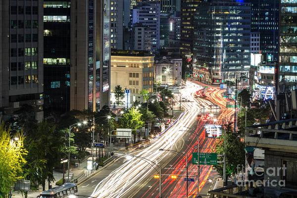 Photograph - Seoul Night Rush by Didier Marti