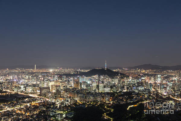 Photograph - Seoul Skyline At Night by Didier Marti
