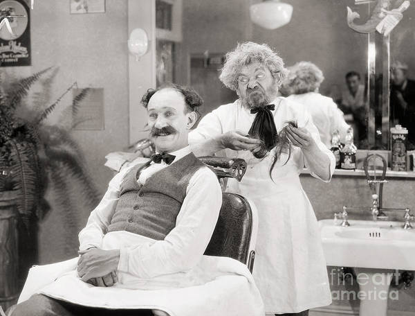Photograph - Silent Still: Barber Shop by Granger