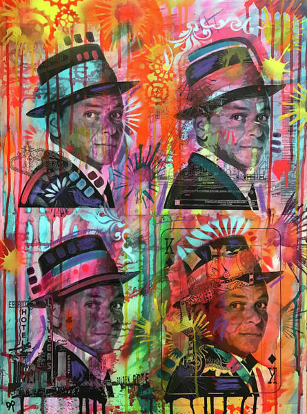 Wall Art - Painting - 4 Sinatra by Dean Russo Art