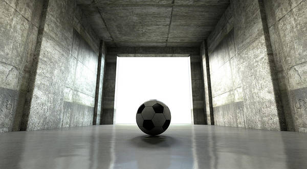 Wall Art - Digital Art - Soccer Ball Sports Stadium Tunnel by Allan Swart