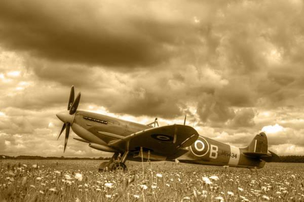 Nikon D5000 Photograph - Spitfire Mk Ixb by Chris Day