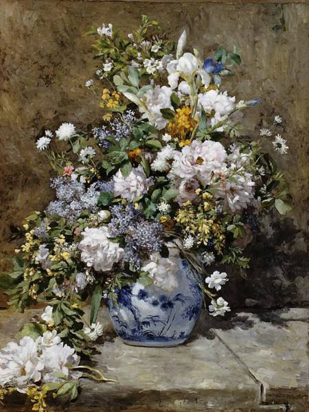Wall Art - Painting - Spring Bouquet by Pierre-Auguste Renoir