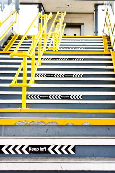 Commuter Rail Wall Art - Photograph - Stairs by Tom Gowanlock