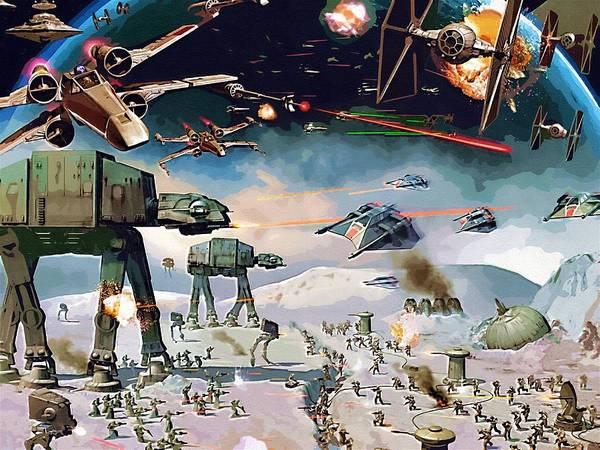 R2-d2 Digital Art - Star Wars Episode 6 Art by Larry Jones