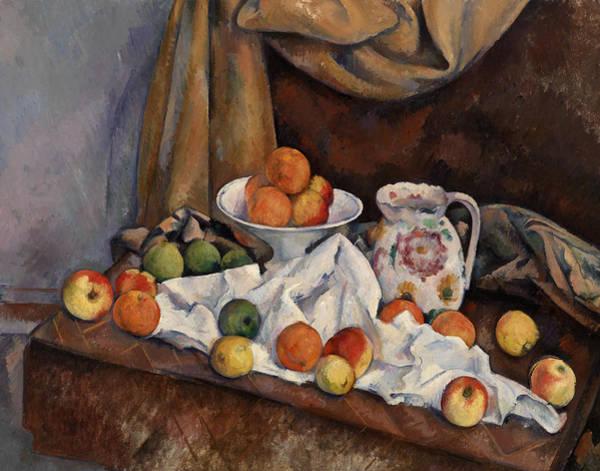 Apple Peel Wall Art - Painting - Still Life by Paul Cezanne