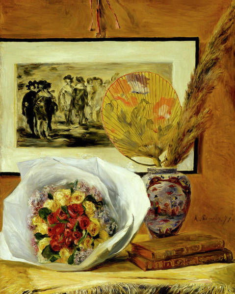 Wall Art - Painting - Still Life With Bouquet by Pierre-Auguste Renoir