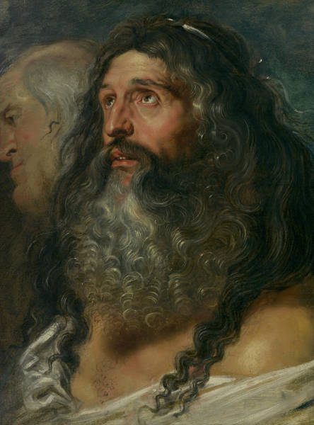 Painting - Study Of Two Heads by Peter Paul Rubens