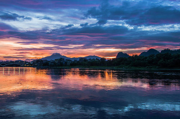 Wall Art - Photograph - Sunrise Scenery In The Morning by Carl Ning