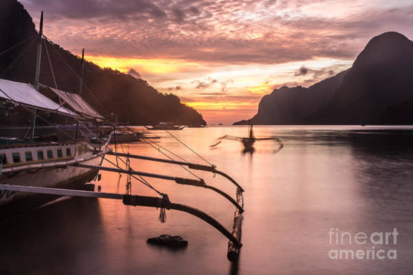 Photograph - Sunset Over El Nido Bay In Palawan, Philippines by Didier Marti