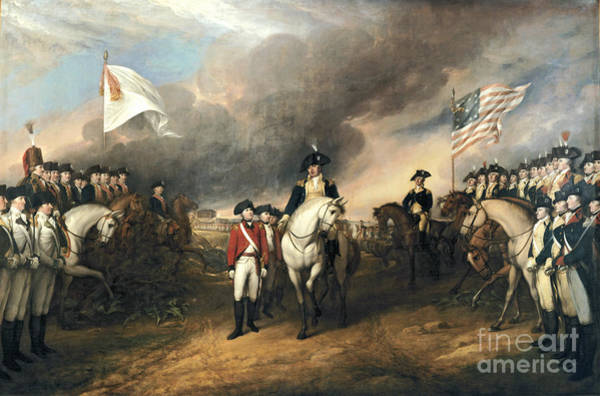 Surrendering Painting - Surrender Of Lord Cornwallis by John Trumbull