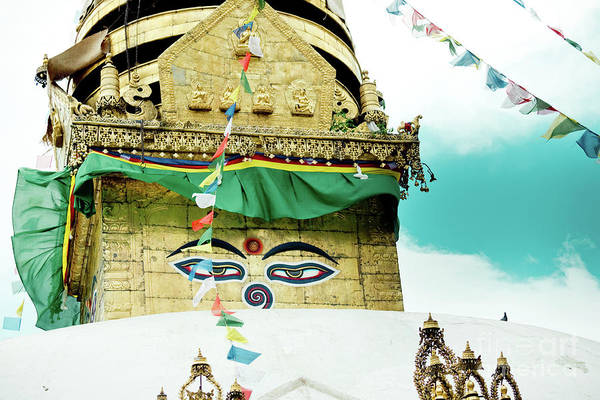 Wall Art - Photograph - Swayambhunath Stupa In Nepal by Raimond Klavins