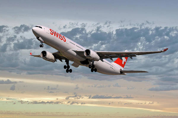 Swiss Wall Art - Photograph - Swiss Airbus A330-343 by Smart Aviation