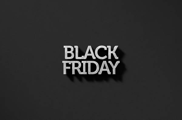 Black Friday Wall Art - Digital Art - Text On Black by Allan Swart