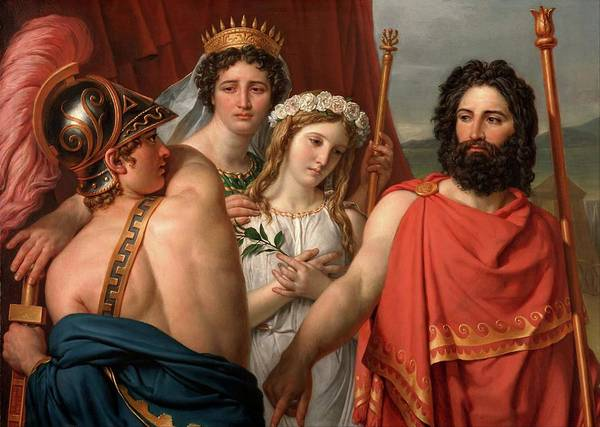 Painting - The Anger Of Achilles by Jacques-Louis David