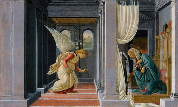 Painting - The Annunciation by Sandro Botticelli