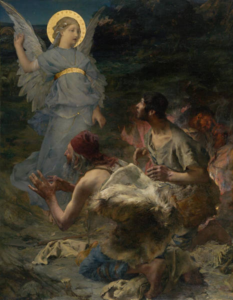 Beauty Wall Art - Painting - The Annunciation To The Shepherds by Jules Bastien-Lepage