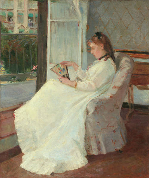 Painting - The Artist's Sister At A Window by Berthe Morisot