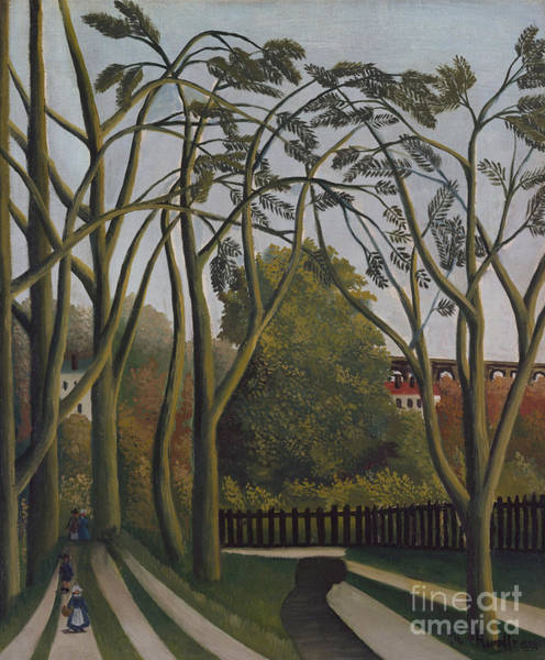 Wall Art - Painting - The Banks Of The Bievre Near Bicetre by Henri Rousseau