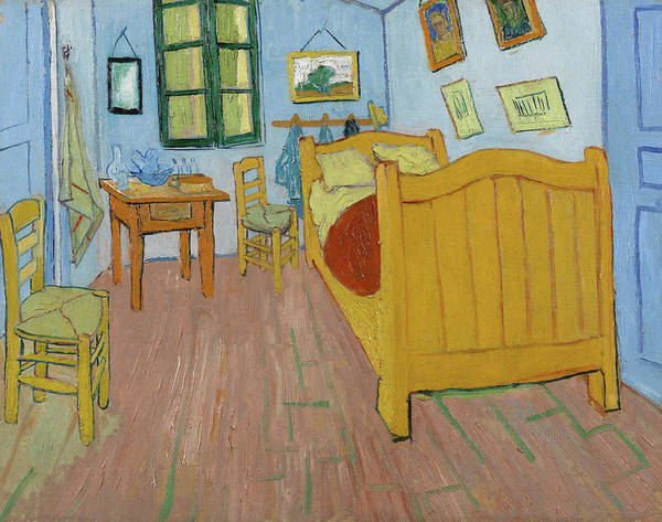 Post Modern Painting - The Bedroom by Vincent van Gogh