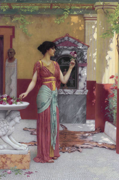 Wall Art - Painting - The Bouquet by John William Godward