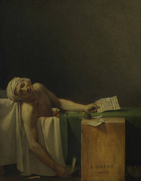 18th Century Wall Art - Painting - The Death Of Marat  by Jacques-Louis David