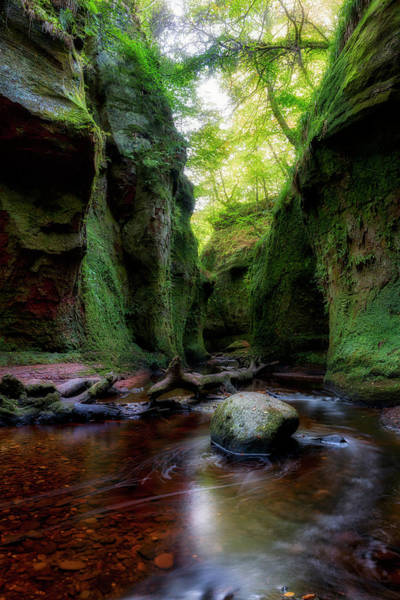 The Devil Pulpit At Finnich Glen Art Print