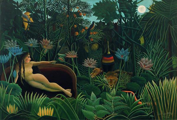 Monkey Flower Wall Art - Painting - The Dream by Henri Rousseau