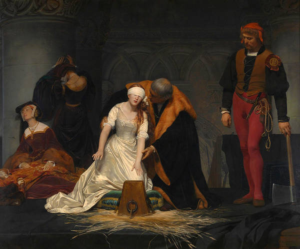French Painter Painting - The Execution Of Lady Jane Grey by Paul Delaroche