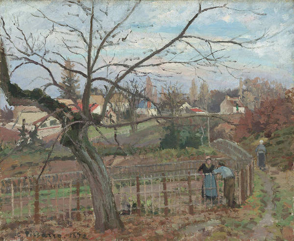 Painting - The Fence by Camille Pissarro
