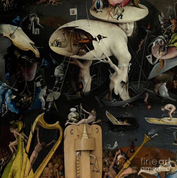 Northern Renaissance Wall Art - Painting - The Garden Of Earthly Delights by Hieronymus Bosch