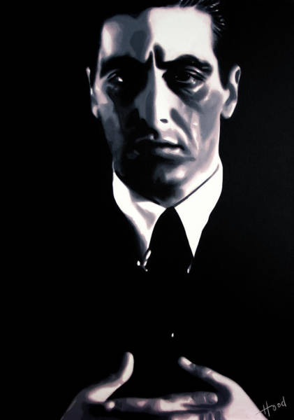 Robert De Niro Wall Art - Painting - The Godfather by Hood alias Ludzska