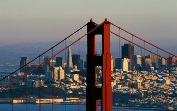 Across Photograph - The Golden Gate Bridge by American School
