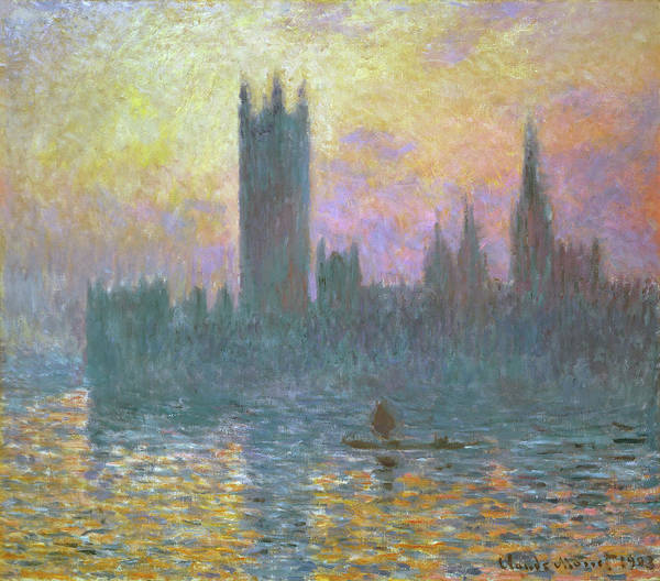 Painting - The Houses Of Parliament, Sunset by Claude Monet