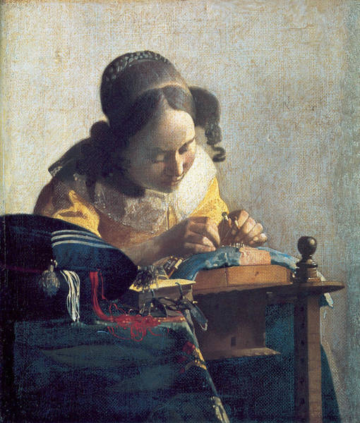 Sewer Painting - The Lacemaker by Johannes Vermeer