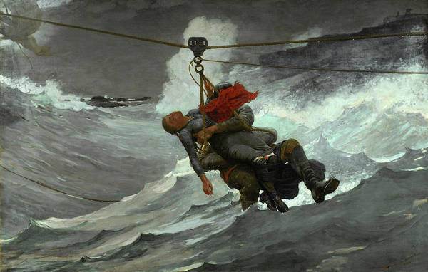 Wall Art - Painting - The Life Line by Winslow Homer