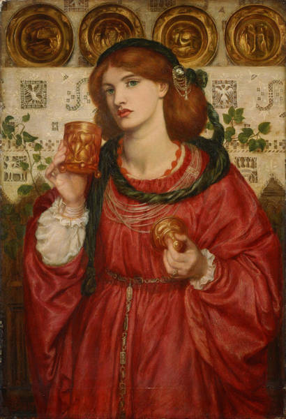 Painting - The Loving Cup by Dante Gabriel Rossetti