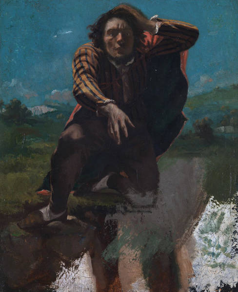 Painting - The Man Made Mad With Fear by Gustave Courbet