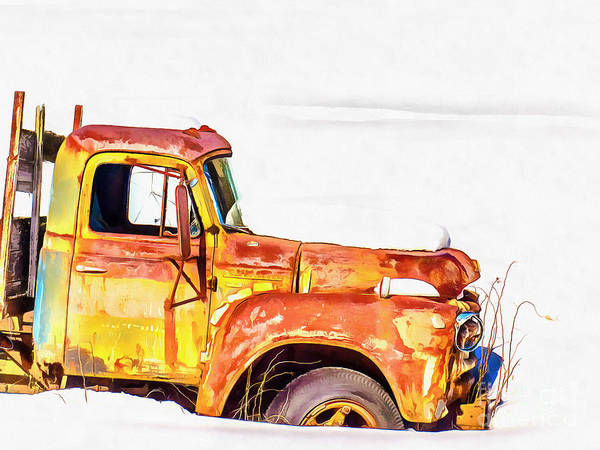 Truck Digital Art - The Old Farm Truck by Edward Fielding