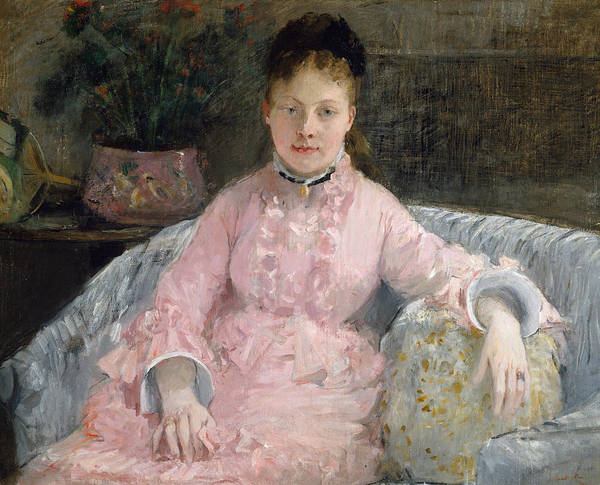 Painting - The Pink Dress by Berthe Morisot