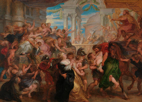 Spectators Painting - The Rape Of The Sabine Women by Peter Paul Rubens