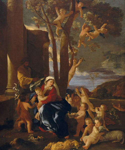 Painting - The Rest On The Flight Into Egypt by Nicolas Poussin