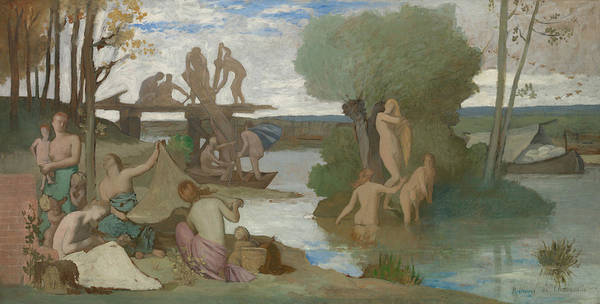 Painting - The River by Pierre Puvis de Chavannes