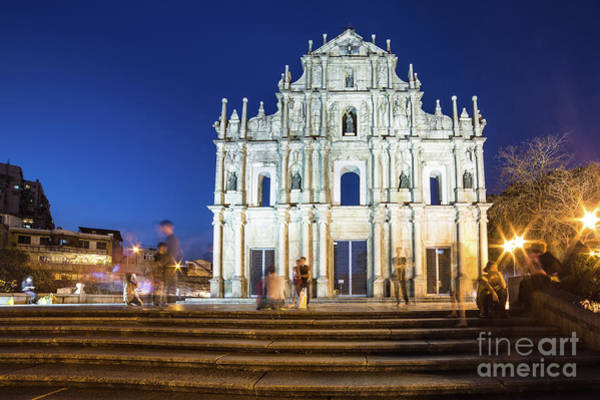 Photograph - The Ruins Of St Paul Church In Macau by Didier Marti