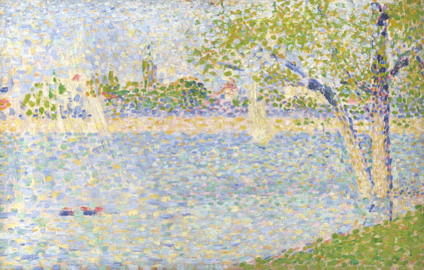Waterway Painting - The Seine Seen From La Grande Jatte by Georges Seurat