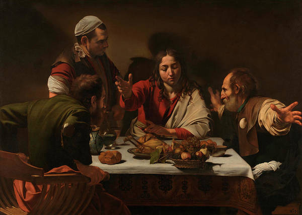 Disciple Wall Art - Painting - The Supper At Emmaus by Michelangelo Merisi da Caravaggio