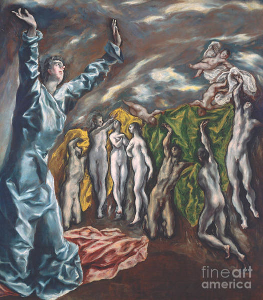 Wall Art - Painting - The Vision Of Saint John by El Greco