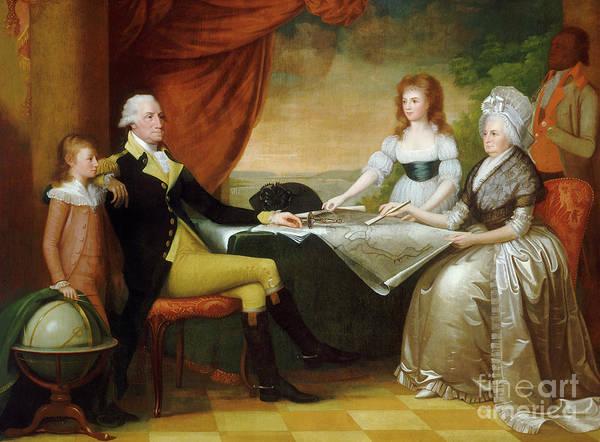 Wall Art - Painting - The Washington Family by Edward Savage