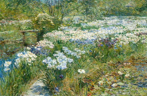 Painting - The Water Garden by Childe Hassam